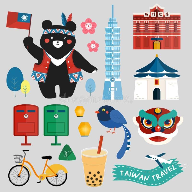Tajwańscy symbole inkasowi ilustracji