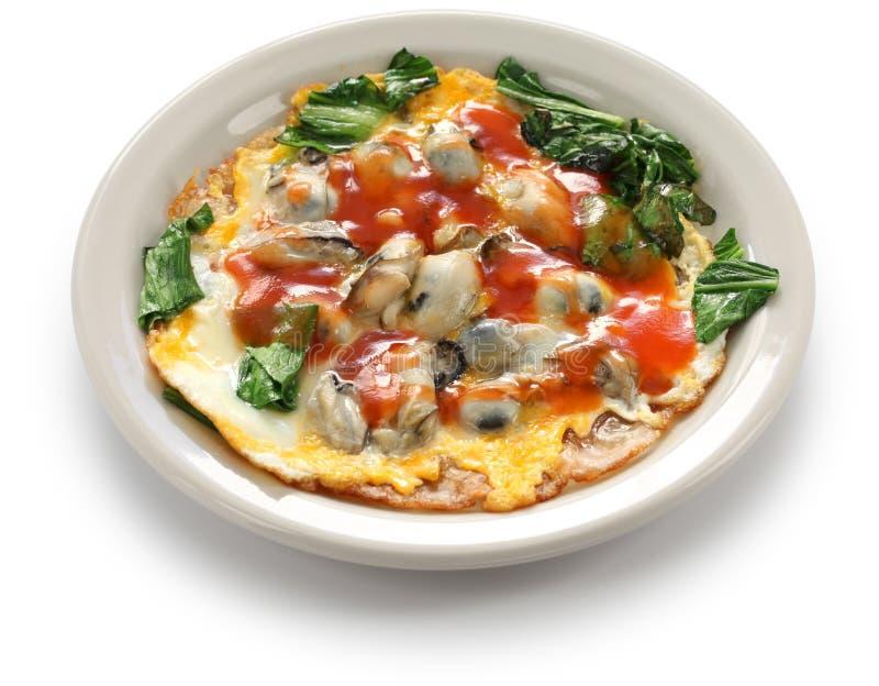 Tajwański ostrygowy omlet zdjęcia royalty free