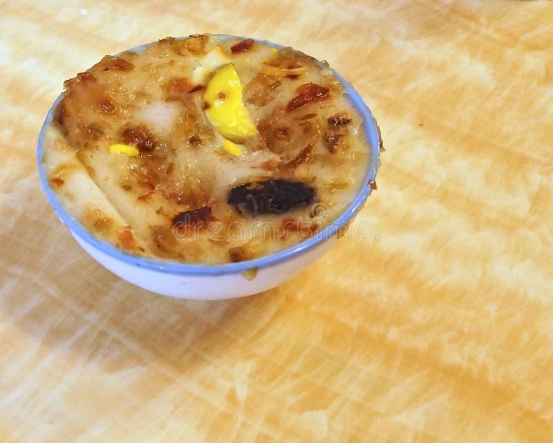 Tajwański smakosz, ryżowy tort w pucharu zbliżeniu zdjęcia stock