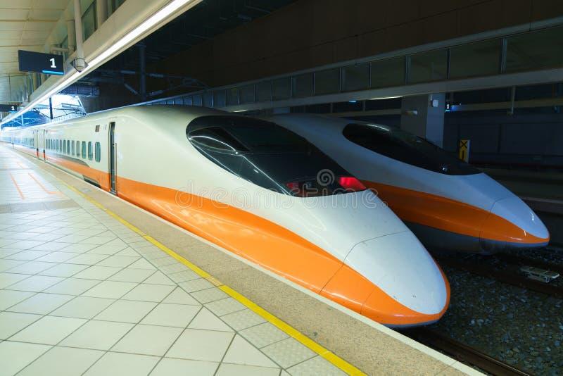 Tajwański wysoki prędkość pociąg obraz royalty free