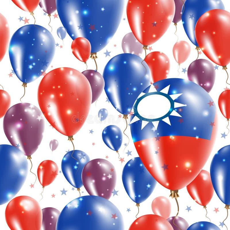 Tajwańskiego dnia niepodległości Bezszwowy wzór ilustracji