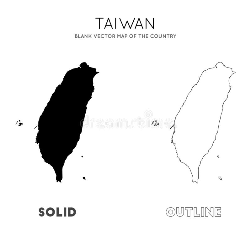 Tajwa?ska mapa royalty ilustracja