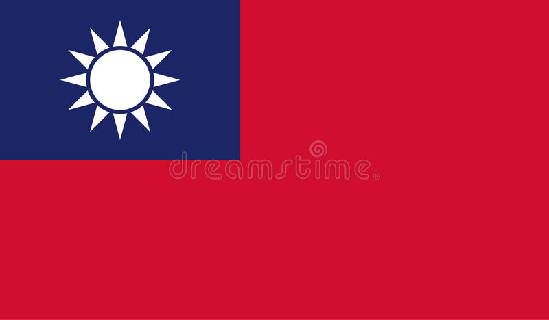 Tajwan flaga wizerunek royalty ilustracja