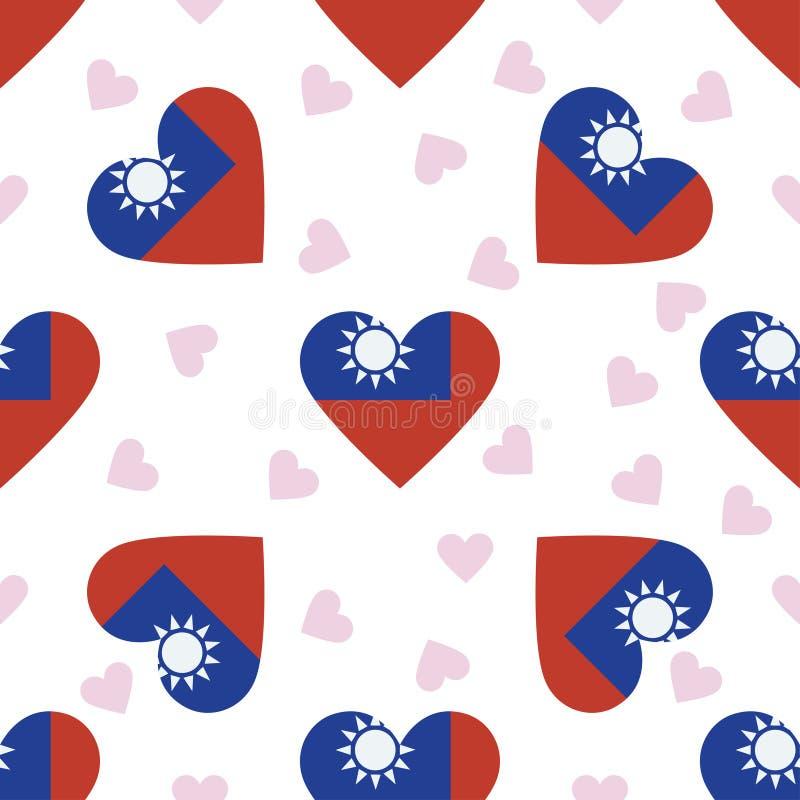 Tajwan, republika Porcelanowy dzień niepodległości royalty ilustracja