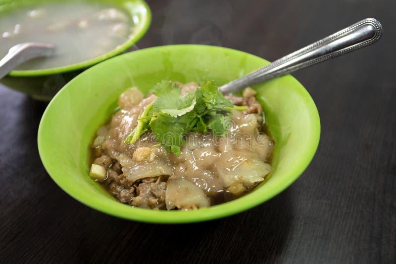 Tajwan, tradycyjna kuchnia, handmade, cywilne przekąski, wieprzowina farsz, klopsiki, zdjęcie stock
