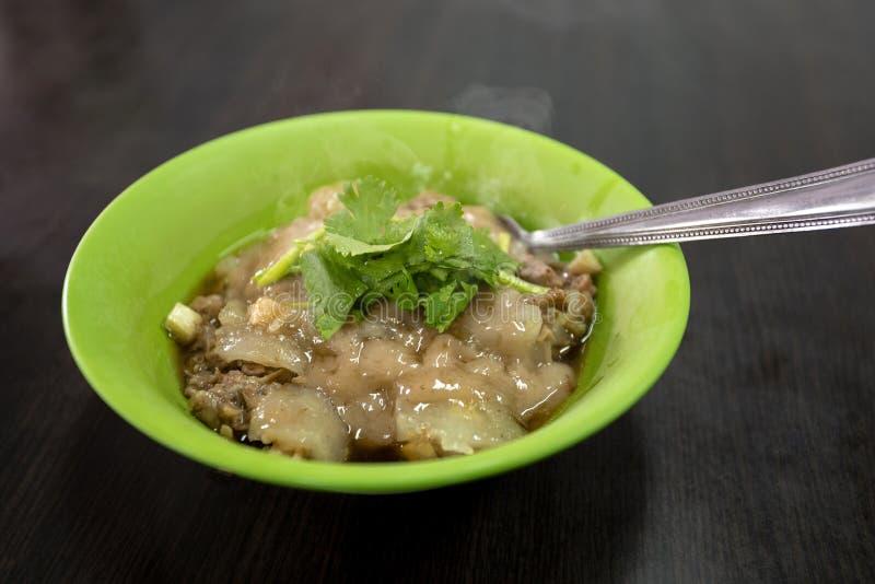 Tajwan, tradycyjna kuchnia, handmade, cywilne przekąski, wieprzowina farsz, klopsiki, fotografia stock