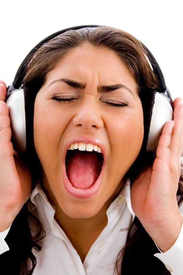 także target1_1_ muzycznego śpiew kobiety potomstwa obraz stock