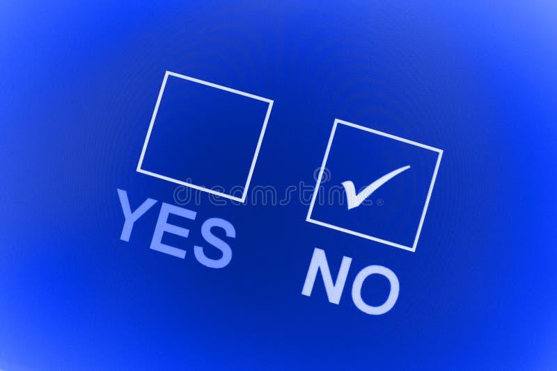 tak żadny głosowanie ilustracja wektor