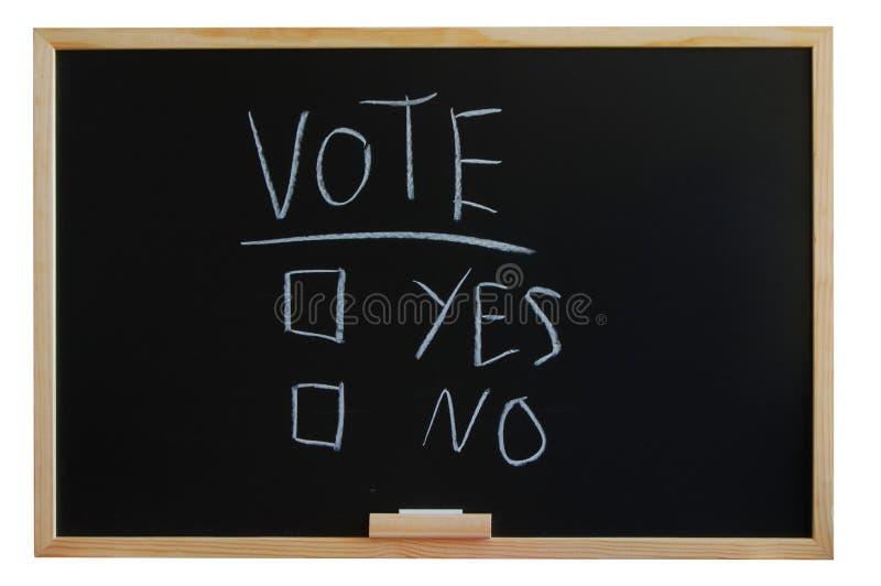 tak żadny głosowanie zdjęcia stock