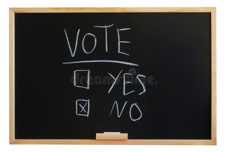 tak żadny głosowanie fotografia stock
