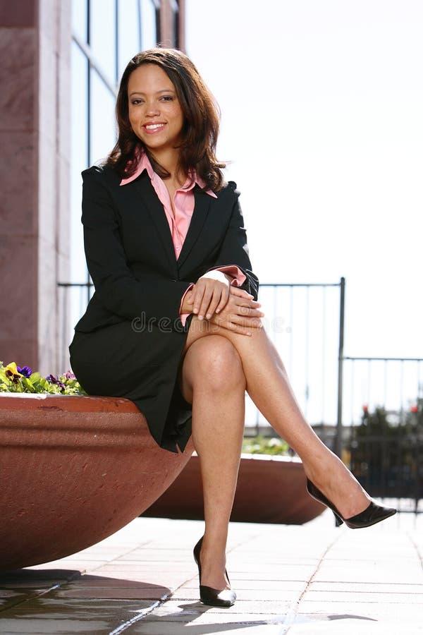 tak, afroamerykanin kobieta jednostek gospodarczych obrazy stock