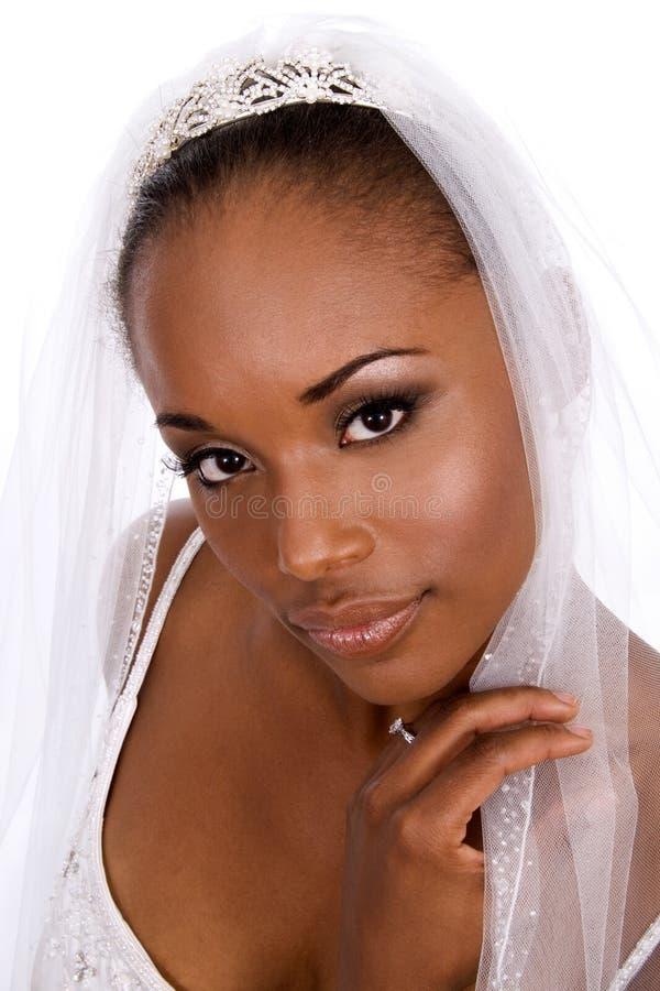 tak, afroamerykanin, panna młoda obrazy stock
