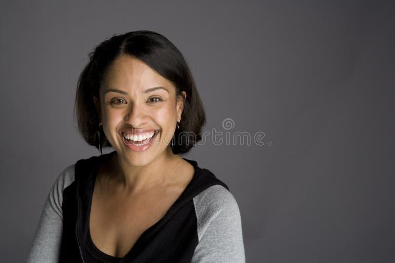 tak, afroamerykanin pewna kobieta zdjęcia stock