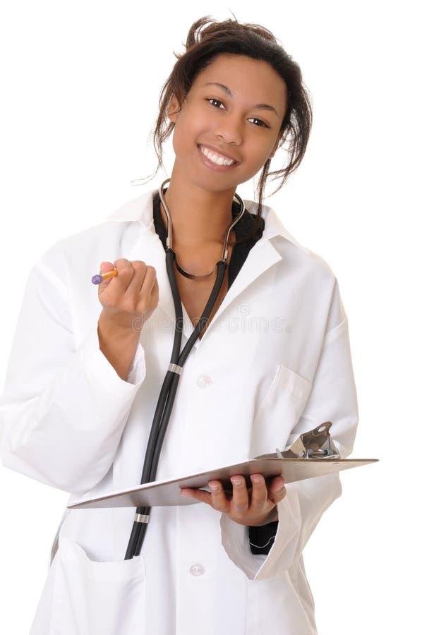 tak, afroamerykanin pielęgniarką doktora obraz stock