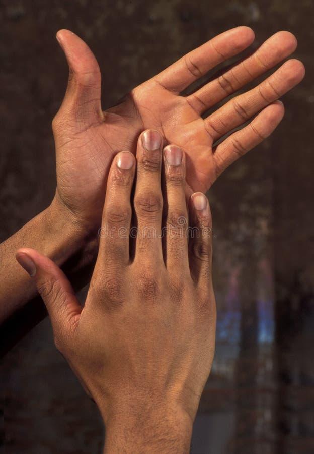 tak, afroamerykanin ręce obrazy royalty free