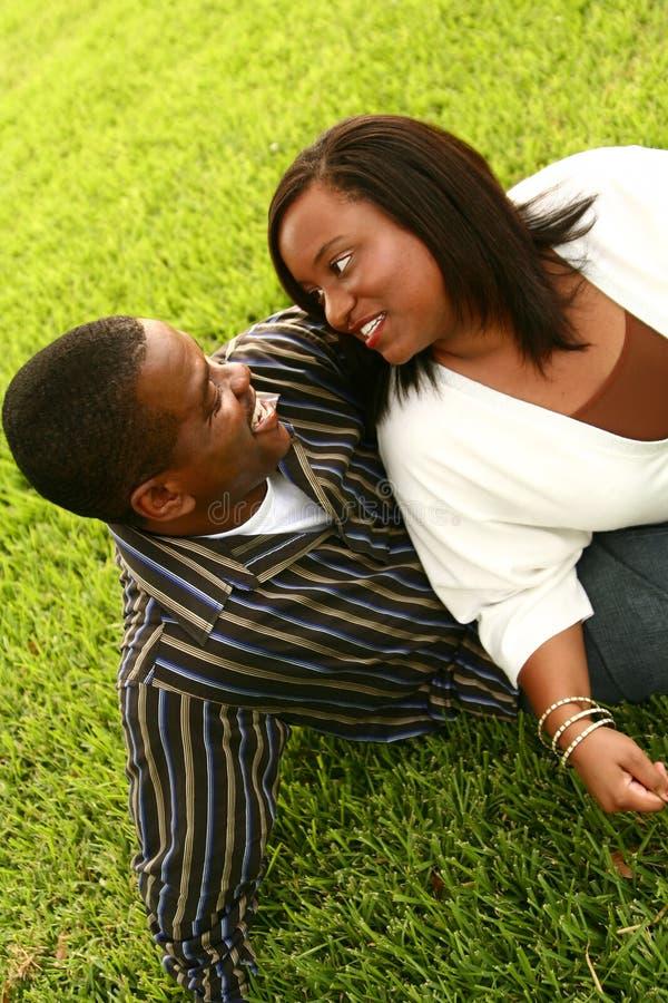 tak, afroamerykanin szczęśliwa para obraz stock