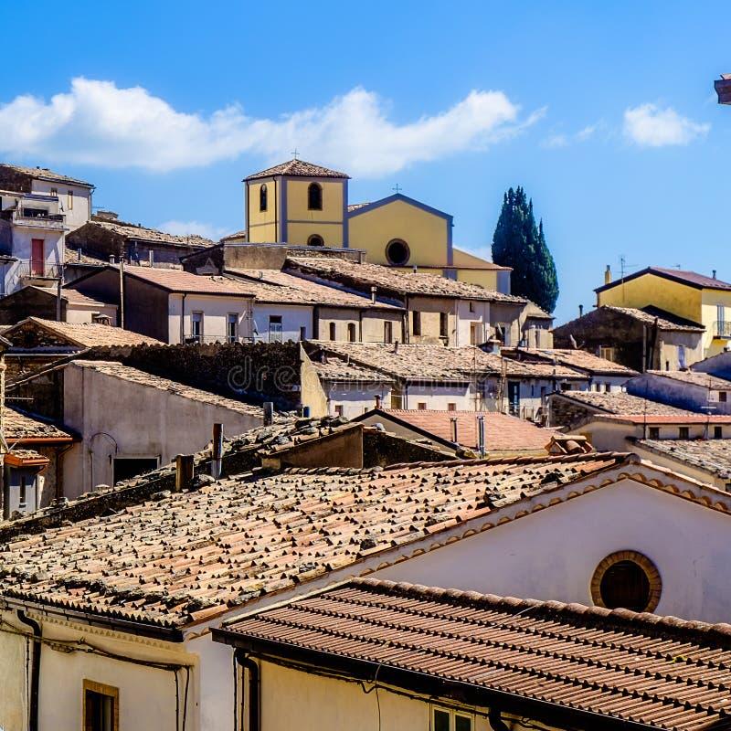 Tak av Cerchiara di Calabria royaltyfri bild
