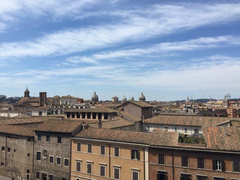 Tak av hus av Rome royaltyfri fotografi