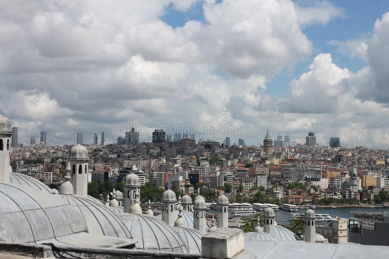 Tak av Istambul arkivbilder