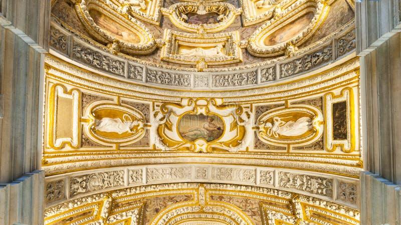 Tak av slotten av dogarna royaltyfria bilder