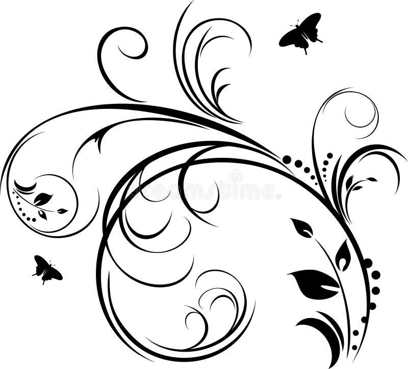 Tak. Decoratief element voor ontwerp stock illustratie