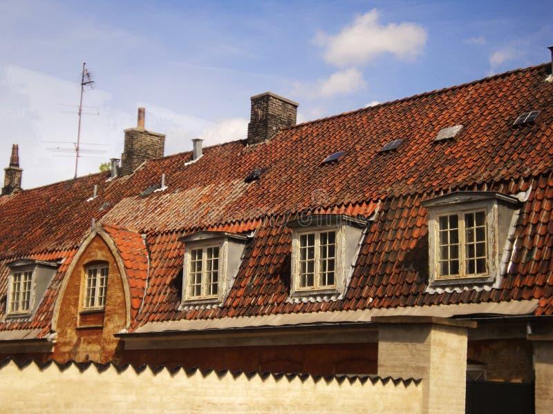 Tak för Europa hus royaltyfri foto