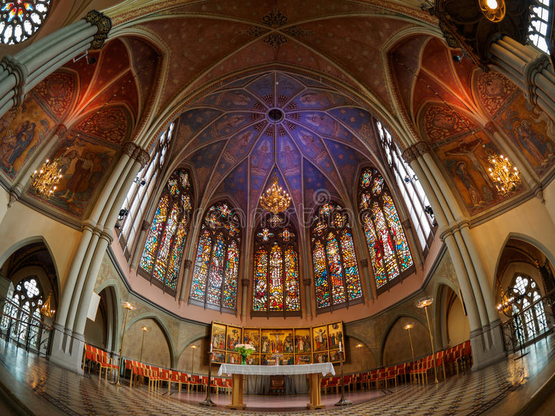 Tak i den Göteborg kyrkan arkivfoto