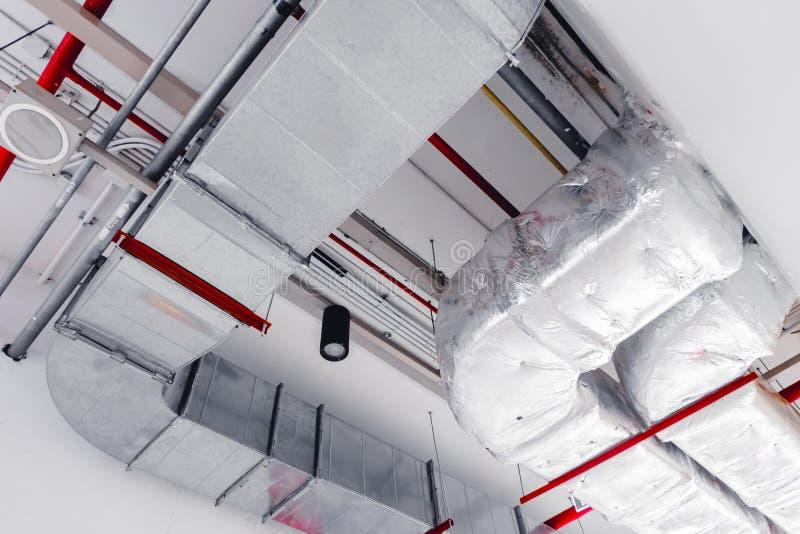 Tak som kyler ventilation för airpipeflygbolagluft fotografering för bildbyråer