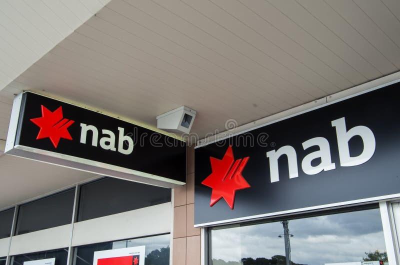 Tak van de Nationale Bank van Australië in Melbourne stock afbeeldingen