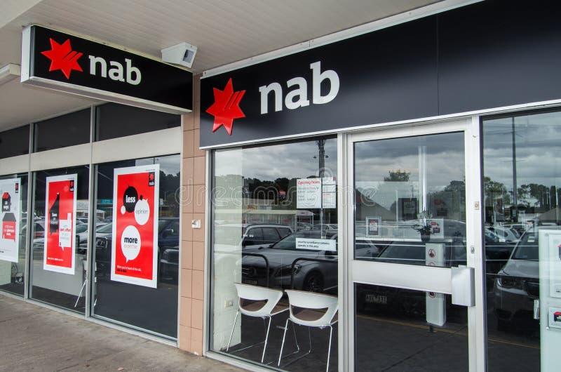 Tak van de Nationale Bank van Australië in Melbourne stock fotografie