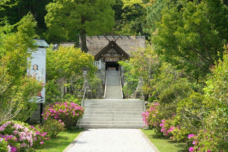 Takabeheiligdom in de prefectuur van Chiba, Japan Het enige shintoheiligdom in het worshiping koken van Japan en kitch royalty-vrije stock fotografie