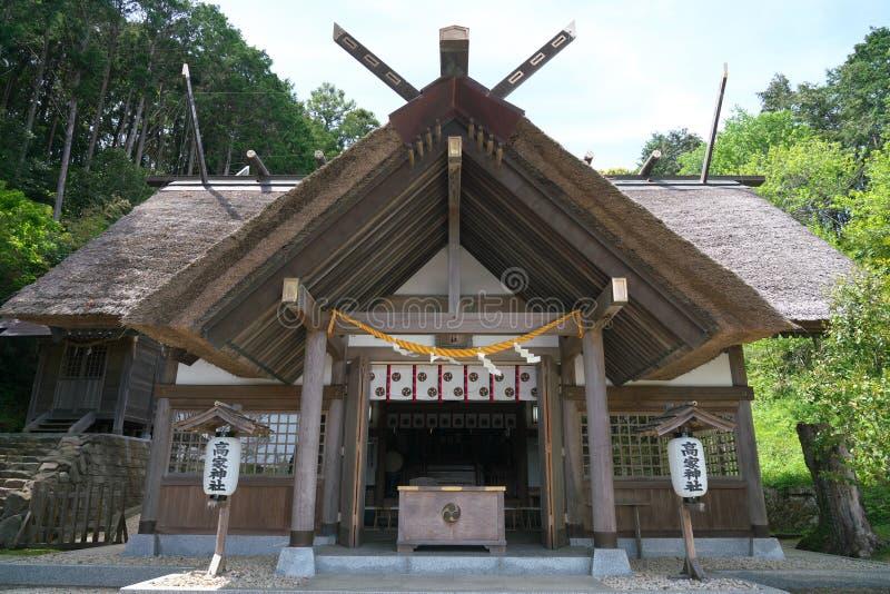 Takabeheiligdom in de prefectuur van Chiba, Japan Het enige shintoheiligdom in het worshiping koken van Japan en kitch royalty-vrije stock afbeelding