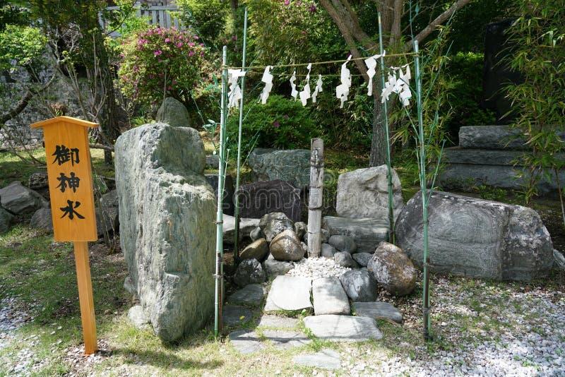 Takabeheiligdom in de prefectuur van Chiba, Japan Het enige shintoheiligdom in het worshiping koken van Japan en kitch stock fotografie