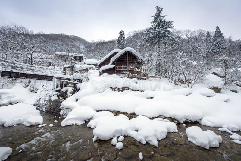 Takaragawa Onsen Osenkaku en préfecture de Gunma, Japon image libre de droits