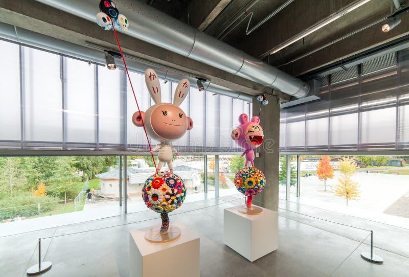 Takashi Murakami-` s Ausstellung am Garagen-Museum der zeitgenössischer Kunst in Moskau lizenzfreie stockfotografie
