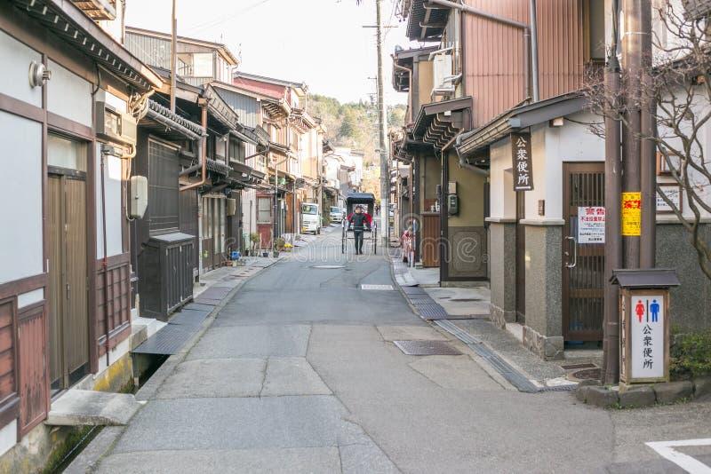 Takayama †de Gifu, Japon «le 9 avril 2019 : Paysage de vieille ville de Takayama images libres de droits