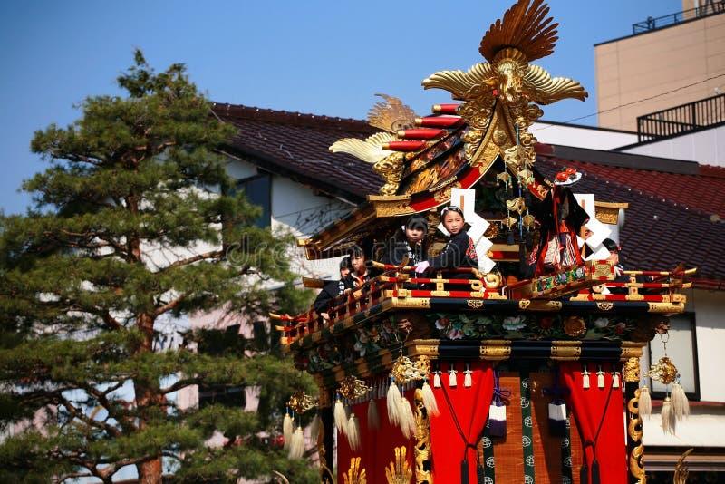 Takayama Festival: Children Sit On Majestic Floats Editorial Photography