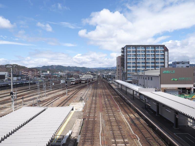 Takayama, Japan - April 18, 2018 : Takayama Train Station stock images