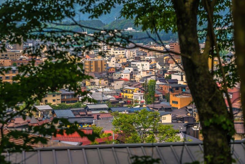 Takayama - 26 mai 2019 : Vue panoramique de la ville de Takayama, Japon photographie stock libre de droits
