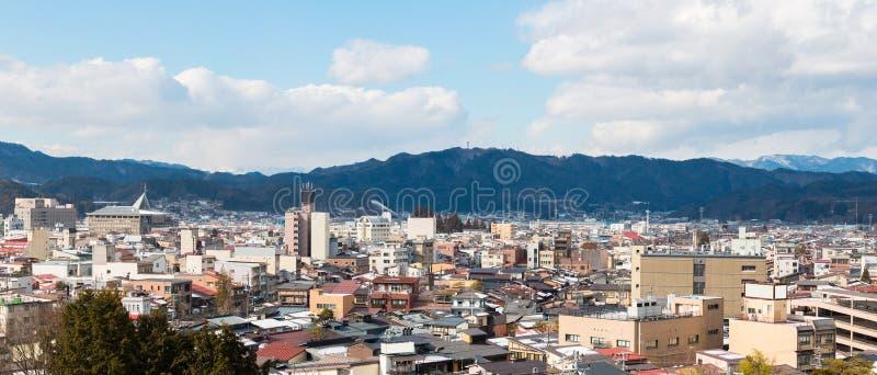 Takayama miasteczko w dolinie obraz stock