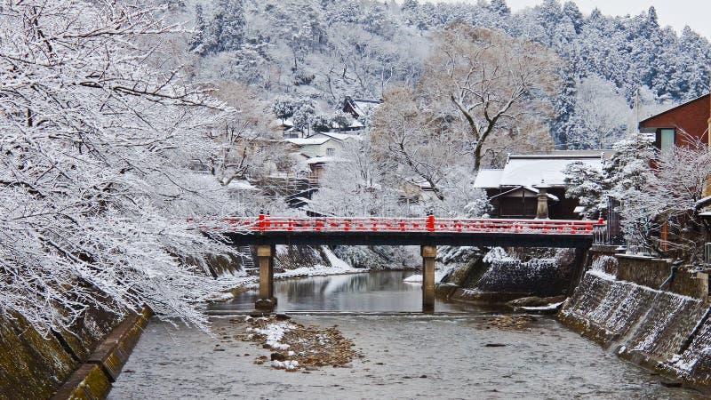Takayama Nakabashi桥梁  免版税库存照片