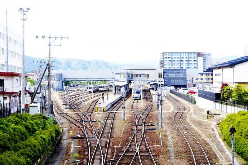 Takayama Train Station royalty free stock photos