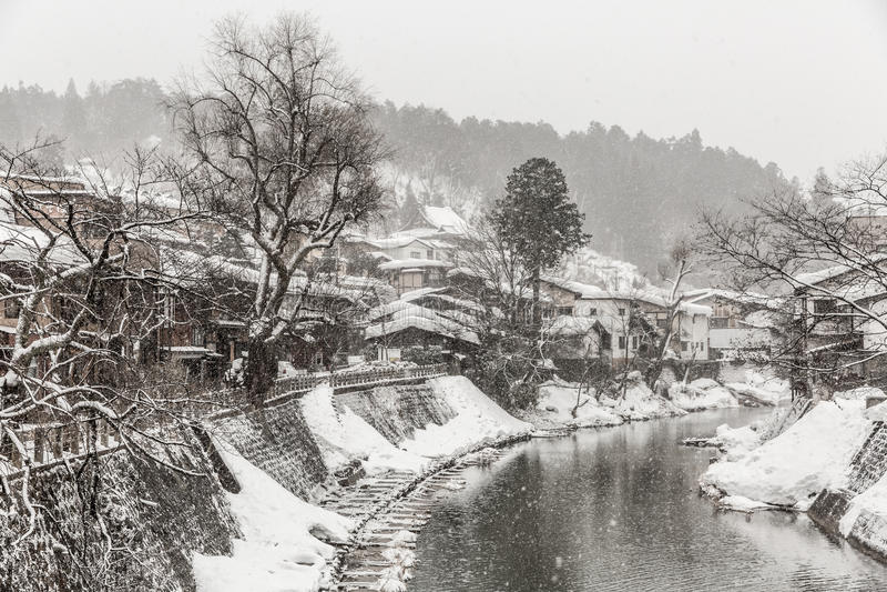 Takayama zima zdjęcia royalty free