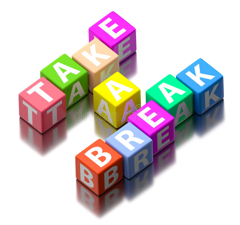 Free Take A Break Words Stock Images - 38300984