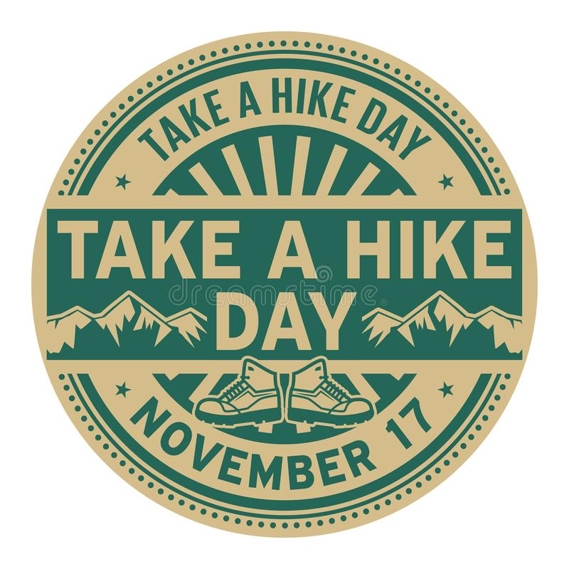 Free Take A Hike Day, November 17 Stock Images - 129602554