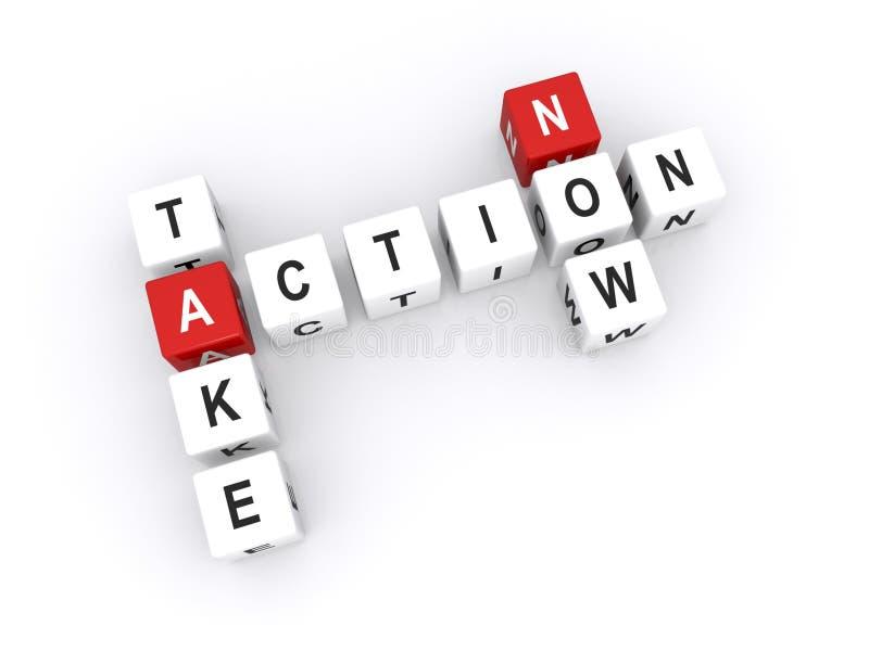 Take action now stock illustration