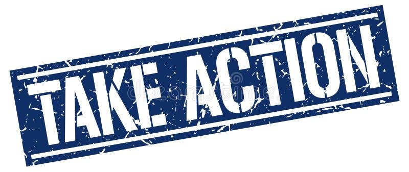 take action stamp royalty free illustration