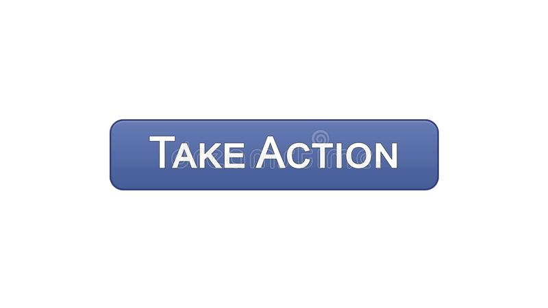Take action web interface button violet color, internet site design, leadership. Stock footage royalty free illustration