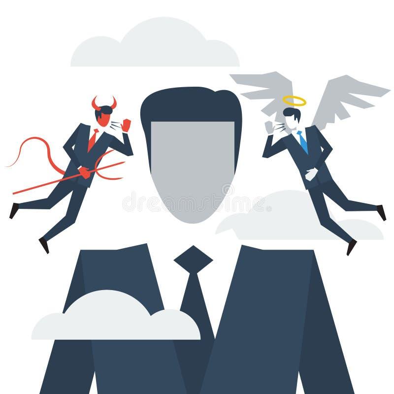 Take advice, moral thinking vector illustration
