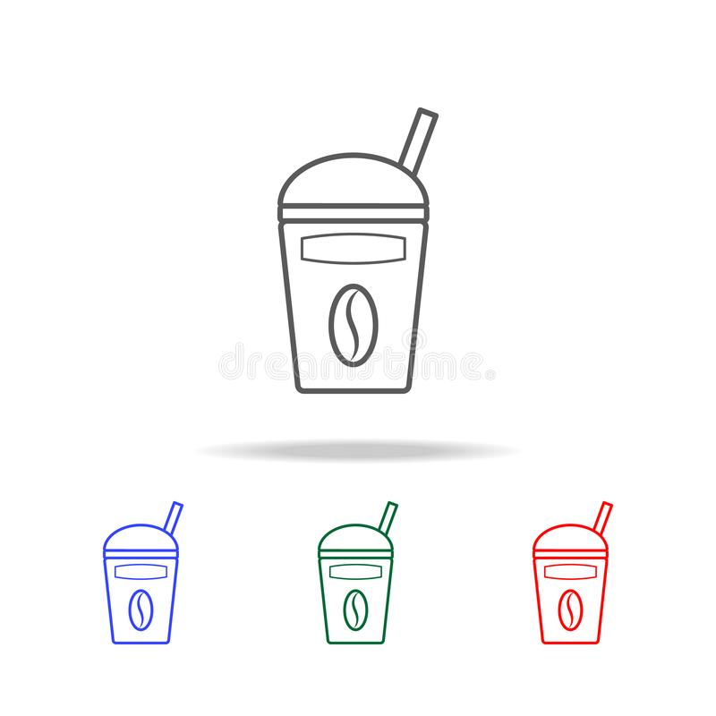 Take away coffee cup icon. Elements of fast food multi colored line icons. Premium quality graphic design icon. Simple icon for we. Bsites, web design, mobile royalty free stock image